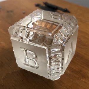 Waterford Crystal baby block